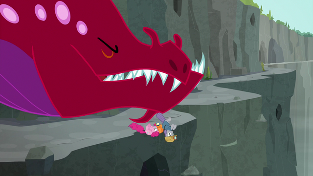 File:Quarray eel knocks Pinkie and Maud over the path S7E4.png