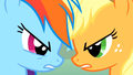 Rainbow Dash and Applejack 'It's on!' S1E13.png