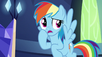 Rainbow Dash thinking for a moment S8E2