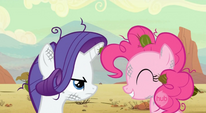 Rarity stuck with Pinkie Pie in the desert S2E14