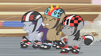Roller derby fillies trying to stop S1E12