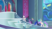 Shining Armor explains more of his defenses S9E4