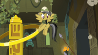 Spears poking at Daring Do S4E04