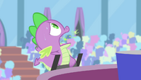 Spike acting like a lighter S4E24