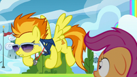Spitfire flexing her hooves S8E20