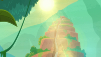 Sun shining down on Tonatiuh's temple S9E21