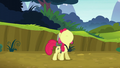 Apple Bloom looks up at the twittermites S5E04.png
