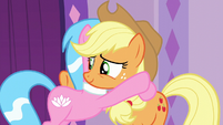 Applejack accepting Aloe's hug S6E10