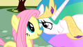 """Fluttershy and Celestia """"rather melodramatic"""" S01E22.png"""