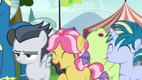Foals cheer loudly; Rumble looks annoyed S7E21