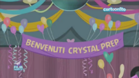 Friendship Games Welcome Crystal Prep banner - Italian