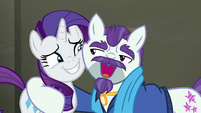 "Mr. Stripes hugs Rarity ""You understand?"" S6E9"
