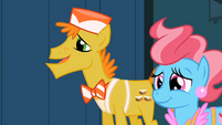 Mr. and Mrs. Cake hope Pinkie did well S2E13