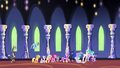 Ponies and princesses walking through the castle S4E26.png