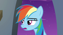 Rainbow Dash --fell into a garbage can-- S6E7