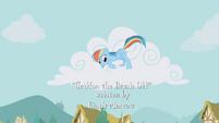 Rainbow Dash hiding in a cloud S1E05