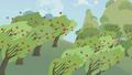 Rainbow Dash speeding through orchard S1E05.png