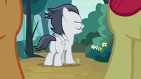 Rumble stomps his hoof on the ground S7E21