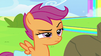 Scootaloo annoyed by Rainbow Dash's ego S7E7