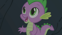 Spike is glad to see Owlowiscious S1E24