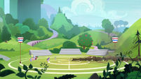 Starlight leaves a crater in the buckball field S8E15