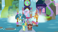 Students burst out of the School of Friendship S8E12