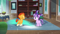 Sunburst and Starlight Glimmer revert to foal age S7E24