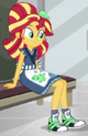 Sunset Shimmer sushi restaurant uniform ID SS16
