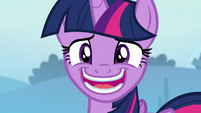 Twilight Sparkle insincerely thanking Trixie S6E25