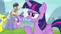 Twilight addresses the crowd once more S7E14