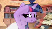 Twilight shielding her head S2E20