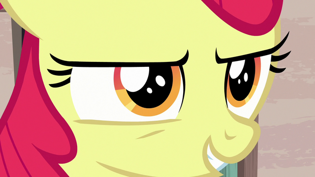 "File:Apple Bloom ""we bring the danger to her"" S7E8.png"