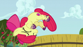 Apple Bloom falls off the tub of grapes S6E4.png