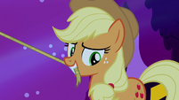 Applejack looking down toward Big Mac S5E13