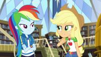 Applejack pointing at herself CYOE2