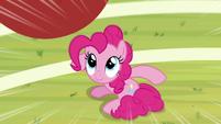 Buckball falling toward Pinkie Pie S9E15
