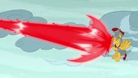 Flash Magnus guards against Aria's magic blast S7E26