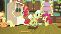 Granny Smith stepping over the filled hole S7E13