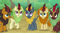 Kirin worried about AJ and Fluttershy S8E23
