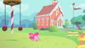 Pinkie Pie rolling around in the school playground S1E15.png