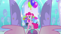 Pinkie Pie with hooves full of presents BFHHS1