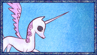 Princess Celestia in the story S1E01