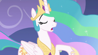Princess Celestia repeating her line S8E7