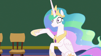 Princess Celestia wheeling her hooves S8E7