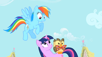 Rainbow Dash thinks Spike is jealous S1E24