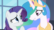 Rarity e Princesa Celestia sorrindo T2E09
