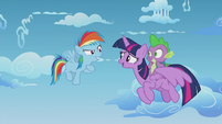 Twilight talking with filly Rainbow Dash S5E25