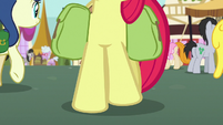 Beginning shot of Apple Bloom's hooves S7E13
