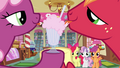 Cheerilee and Big McIntosh licking the milkshake S02E17.png