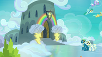 Exterior shot of Wonderbolt Academy barracks S7E7